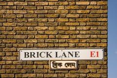 πάροδος Λονδίνο τούβλο&upsi στοκ εικόνα με δικαίωμα ελεύθερης χρήσης