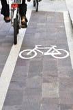 πάροδος ποδηλάτων ποδηλά& Στοκ εικόνες με δικαίωμα ελεύθερης χρήσης