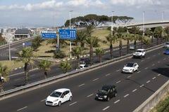 πάροδος τεσσάρων εθνικών & Νότιος Αφρική του Καίηπ Τάουν Στοκ Εικόνα