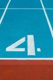 Πάροδος διαδρομής αθλητισμού στο στάδιο Στοκ Εικόνες