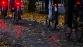 Πάροδος ποδηλάτων στη Σουηδία απόθεμα βίντεο