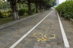 Πάροδος ποδηλάτων Στοκ εικόνα με δικαίωμα ελεύθερης χρήσης