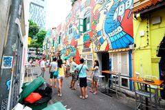 Πάροδος Σιγκαπούρη Haji Στοκ Εικόνες