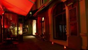 Πάροδος της Vulcan στο Ώκλαντ κεντρικός τη νύχτα Νέα Ζηλανδία απόθεμα βίντεο