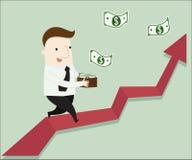 Πάρτε ένα κέρδος από το παθητικό εισόδημα ελεύθερη απεικόνιση δικαιώματος