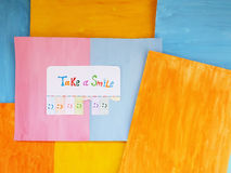 Πάρτε ένα χαμόγελο, θετική έννοια σκέψης Στοκ Φωτογραφίες