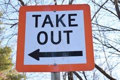 Πάρτε έξω το προσγειωμένος σημάδι βαρκών με το βέλος Στοκ φωτογραφίες με δικαίωμα ελεύθερης χρήσης