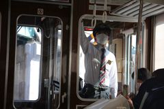 Πάρτε έτοιμος αρχίζει το ταξίδι μας στο Kobe στοκ εικόνα με δικαίωμα ελεύθερης χρήσης
