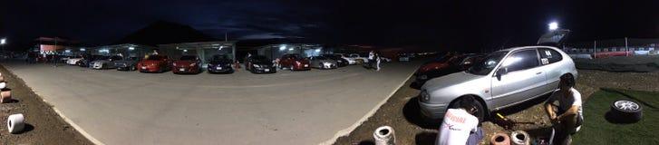 Πάρτε έτοιμος για Autocross Στοκ εικόνα με δικαίωμα ελεύθερης χρήσης