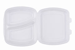 Πάρτε μαζί τη συσκευασία γρήγορου φαγητού στο άσπρο υπόβαθρο Στοκ φωτογραφία με δικαίωμα ελεύθερης χρήσης