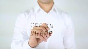 Πάρτε στη μορφή, γράψιμο επιχειρηματιών στο γυαλί Στοκ φωτογραφία με δικαίωμα ελεύθερης χρήσης