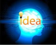 πάρτε τη νέα τεχνολογία ιδέ&a Στοκ Εικόνες