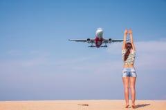 Πάρτε τη φωτογραφία με το αεροπλάνο Στοκ Εικόνες