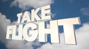 Πάρτε τις λέξεις σύννεφων ουρανού ταξιδιού της Fly Air πτήσης Στοκ φωτογραφία με δικαίωμα ελεύθερης χρήσης