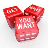 Πάρτε τι θέλετε χωρίζετε σε τετράγωνα τον κίνδυνο τυχερού παιχνιδιού στοιχήματος Στοκ Εικόνα