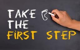Πάρτε το πρώτο βήμα στοκ φωτογραφίες