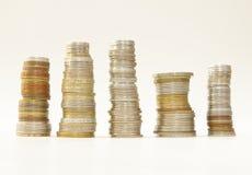 Πάσσαλοι των νομισμάτων στοκ φωτογραφίες με δικαίωμα ελεύθερης χρήσης