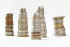 Πάσσαλοι των νομισμάτων στοκ εικόνα με δικαίωμα ελεύθερης χρήσης