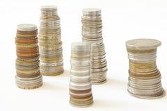 Πάσσαλοι των νομισμάτων στοκ φωτογραφία με δικαίωμα ελεύθερης χρήσης