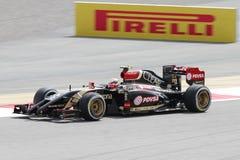 Πάστορας Maldonado της λωτός-Renault που συναγωνίζεται κατά τη διάρκεια του π Στοκ Φωτογραφία