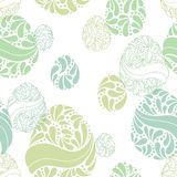 Πάσχας αυγών γραφικό διάνυσμα απεικόνισης σχεδίων χρώματος doodle άνευ ραφής Στοκ φωτογραφίες με δικαίωμα ελεύθερης χρήσης