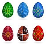 Πάσχας αυγών πρότυπα που τίθενται γεωμετρικά ελεύθερη απεικόνιση δικαιώματος