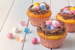 Πάσχα Cupcakes οριζόντιο Στοκ Εικόνες
