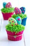 Πάσχα cupcakes Στοκ εικόνα με δικαίωμα ελεύθερης χρήσης