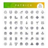 Πάτρικ Line Icons Set Στοκ εικόνες με δικαίωμα ελεύθερης χρήσης