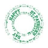 Πάτρικ Stamp Green Στοκ εικόνα με δικαίωμα ελεύθερης χρήσης