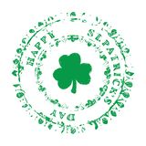 Πάτρικ Stamp Green Στοκ Εικόνες