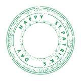 Πάτρικ Stamp Green-09 Στοκ Εικόνες