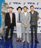 Πάτρικ Stump, Pete Wentz, Joe Trohman και Andy Hurley του αγοριού πτώσης έξω Στοκ φωτογραφία με δικαίωμα ελεύθερης χρήσης