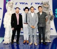 Πάτρικ Stump, Pete Wentz, Joe Trohman και Andy Hurley του αγοριού πτώσης έξω Στοκ Εικόνες