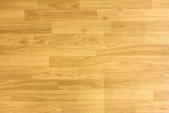 Πάτωμα γήπεδο μπάσκετ σφενδάμνου σκληρού ξύλου που αντιμετωπίζεται άνωθεν Στοκ Εικόνες