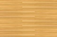 Πάτωμα γήπεδο μπάσκετ σφενδάμνου σκληρού ξύλου που αντιμετωπίζεται άνωθεν Στοκ Εικόνα