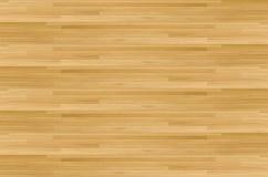Πάτωμα γήπεδο μπάσκετ σφενδάμνου σκληρού ξύλου που αντιμετωπίζεται άνωθεν Στοκ Φωτογραφία