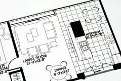 πάτωμα δωμάτιο σχεδίων δια Στοκ Εικόνα