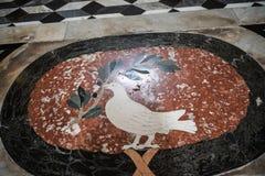 Πάτωμα μωσαϊκών στη βασιλική του ST John Lateran στη Ρώμη Ιταλία Στοκ εικόνα με δικαίωμα ελεύθερης χρήσης