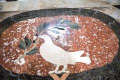 Πάτωμα μωσαϊκών στη βασιλική του ST John Lateran στη Ρώμη Ιταλία Στοκ Φωτογραφία