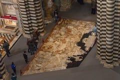Πάτωμα μωσαϊκών του καθεδρικού ναού της Σιένα Ιταλία Τοσκάνη Στοκ Εικόνες
