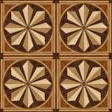 Πάτωμα παρκέ σχεδίου μενταγιόν, ξύλινη σύσταση Στοκ εικόνες με δικαίωμα ελεύθερης χρήσης