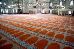 Πάτωμα προσευχής μουσουλμανικών τεμενών Suleymaniye Στοκ φωτογραφίες με δικαίωμα ελεύθερης χρήσης