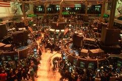 Πάτωμα του Χρηματιστηρίου Αξιών της Νέας Υόρκης Στοκ Φωτογραφία