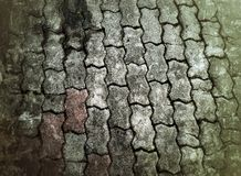 Πάτωμα τούβλου Grunge Στοκ φωτογραφία με δικαίωμα ελεύθερης χρήσης