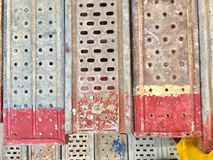 Πάτωμα υλικών σκαλωσιάς Στοκ φωτογραφία με δικαίωμα ελεύθερης χρήσης