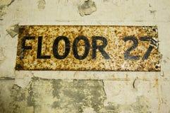 Πάτωμα 27 σημάδι Στοκ Φωτογραφία