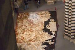 Πάτωμα Mosais του καθεδρικού ναού της Σιένα Ιταλία Τοσκάνη Στοκ Εικόνες