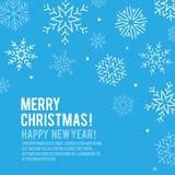 Πάχνη, snowflake, διανυσματικό υπόβαθρο χιονοπτώσεων, ευτυχή Χριστούγεννα ele Στοκ Φωτογραφία