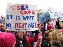 Πάλη για τα δικαιώματα γυναικών ` s Στοκ Φωτογραφίες